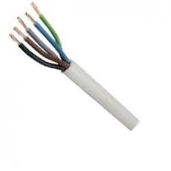 Kabel H05VV-F 5x1 CYSY bílý ohebný