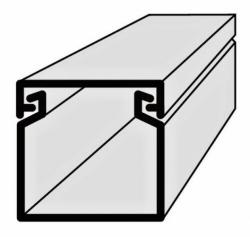 Lišta vkládací elektroinstalační 20x20 2m EIP 20020 Polyprofil