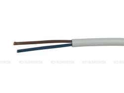 Kabel H05VV-F 2x1,5 CYSY bílý ohebný