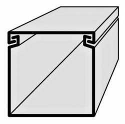Lišta vkládací elektroinstalační 40x40 3m EIP 40040 Polyprofil