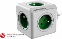 Zásuvka rozbočka PowerCube 5 zásuvka zelená 2100/FRORPC