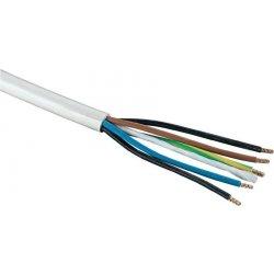 Kabel H05VV-F 5x0,75 CYSY bílý ohebný