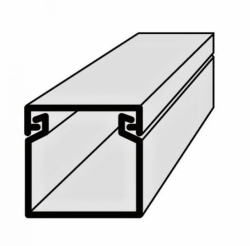 Lišta vkládací elektroinstalační 17x17 2m EIP 17017 Polyprofil