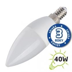 Žárovka LED 230V 5W E14 C37 bílá teplá Tipa