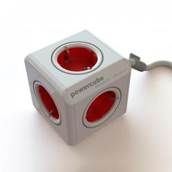 Zásuvka rozbočka PowerCube 5 zásuvka s kabelem červená 2300/FREX