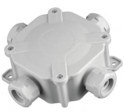 Krabice 6455-11 P/S CZ 5P vodotěsná acidurka plastová šedá IP66