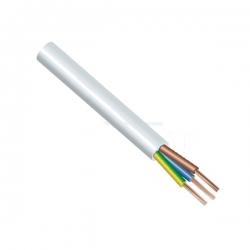 Kabel H05VV-F 3x1,5 CYSY bílý ohebný