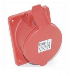 Zásuvka průmyslová 16A 4P 400V IP44 vestavná ZV 164 METE