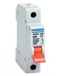Jistič Hyundai 16C/1 6kA 16A jednofázový HIBD63-N