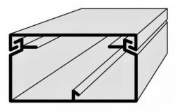 Lišta vkládací elektroinstalační 60x40 2m EIP 60040 Polyprofil
