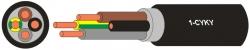Kabel CYKY-J 5x6 C silový instalační Draka kabely