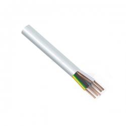 Kabel H05VV-F 5x1,5 CYSY bílý ohebný