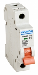 Jistič Hyundai 16B/1 6kA 16A jednofázový HIBD63-N