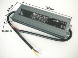 LED zdroj 12V 100W IP67 napájecí-trafo SLIM 05610